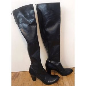 Franco Sarto NWOT black thigh high heal boots